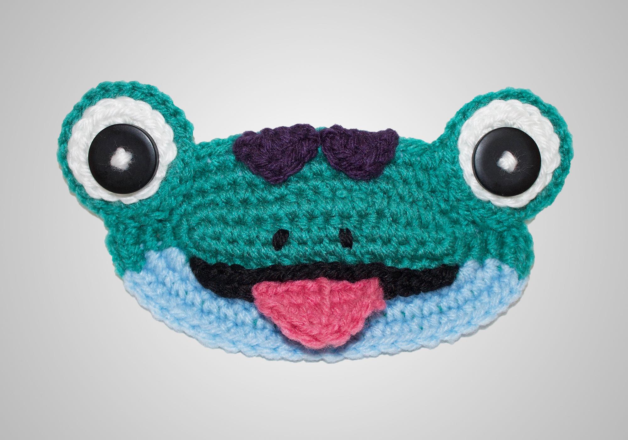 crochet lizard mask mate