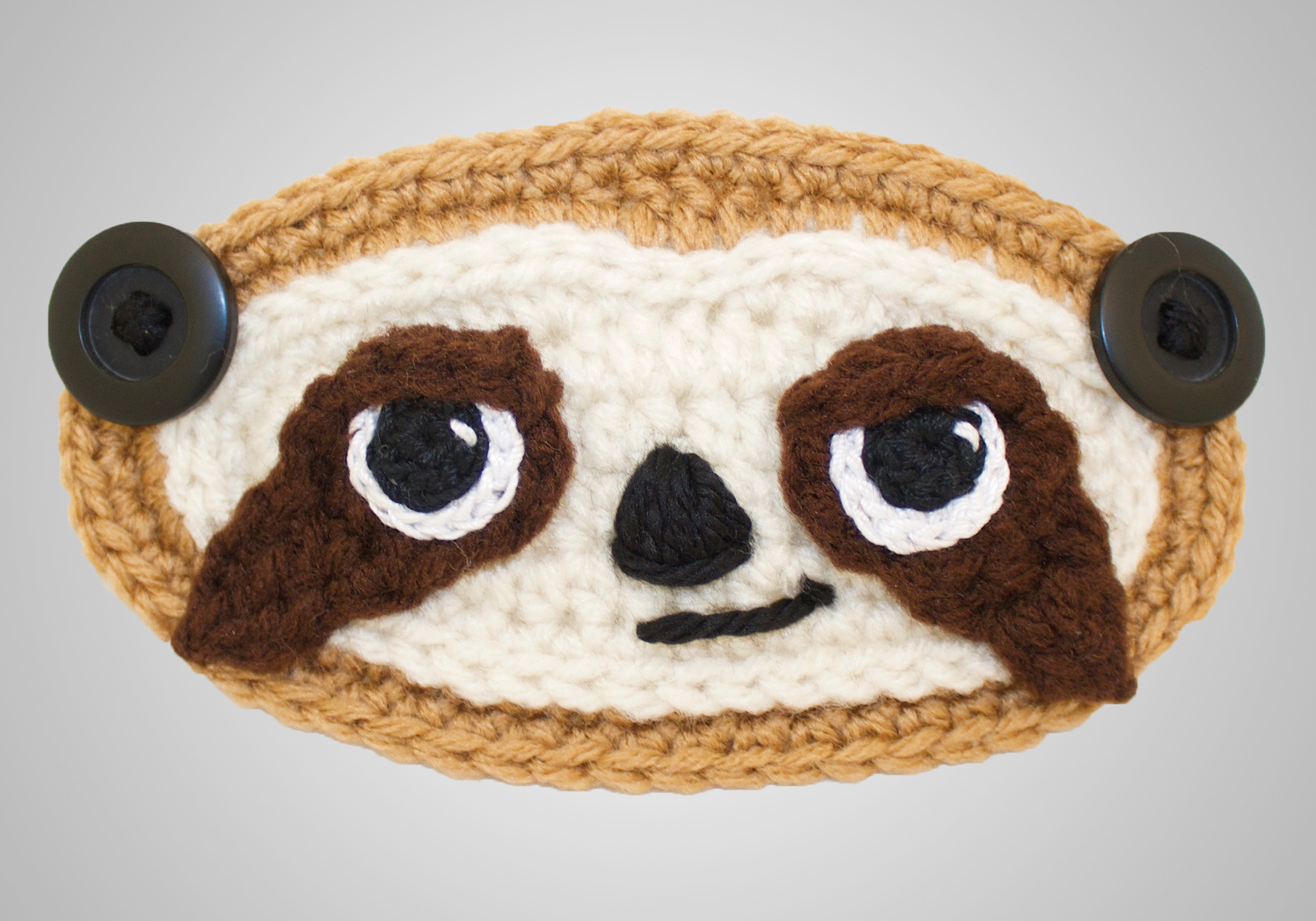 Sloth Mask Mates Pattern
