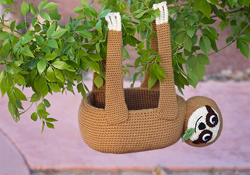 Sloth Basket Crochet Pattern