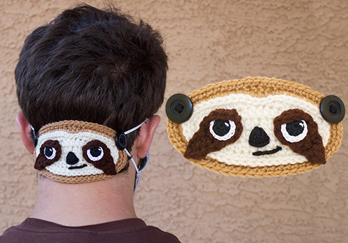 Crochet Sloth Ear Saver