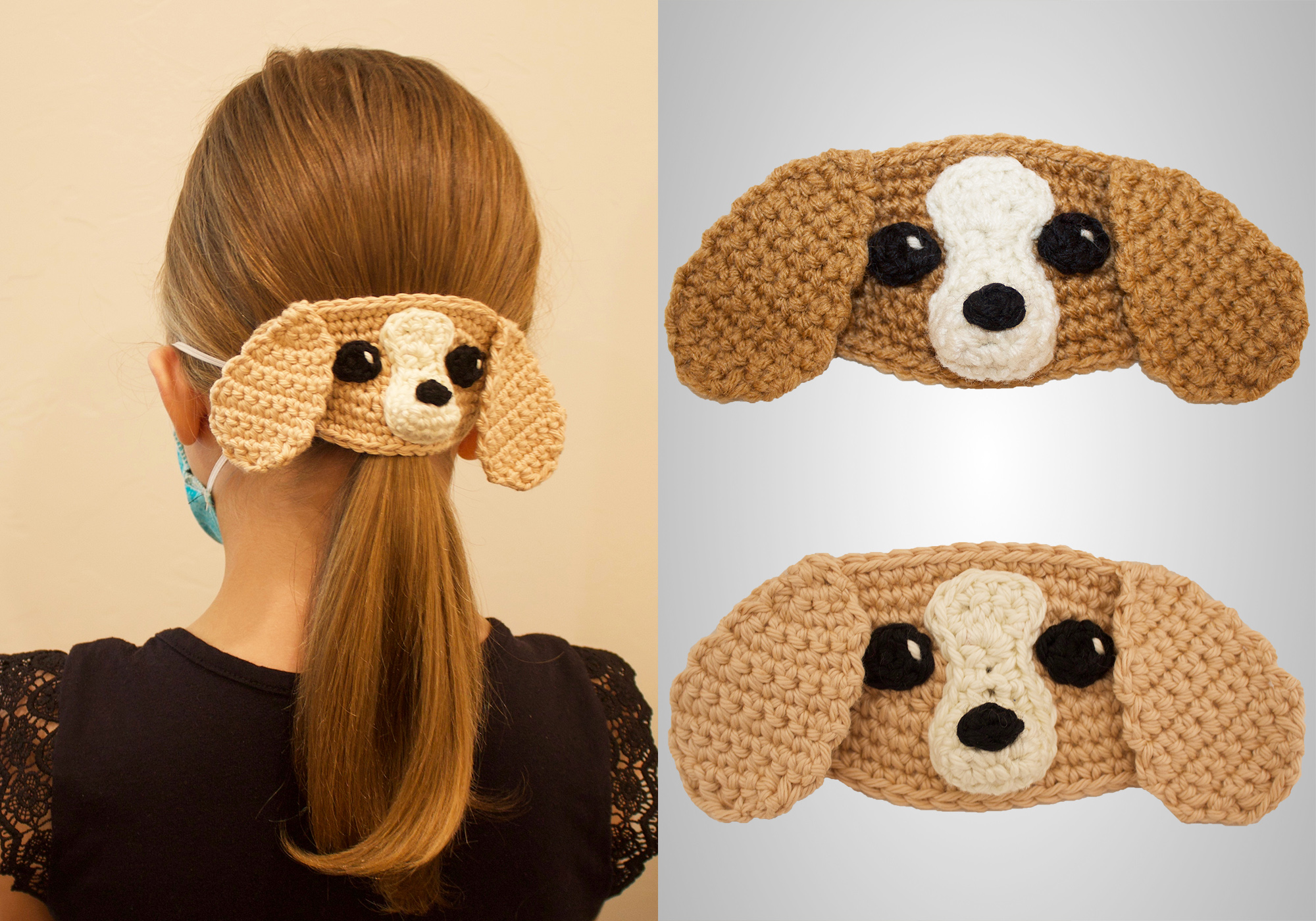 Crochet Puppy Mask Mates