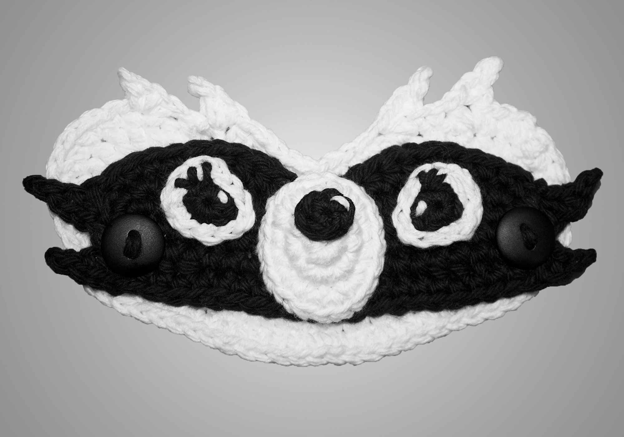 Raccoon Mask Mate Pattern