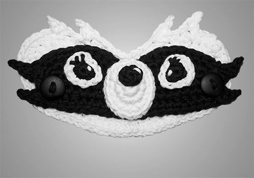 Crochet Raccoon Ear Saver