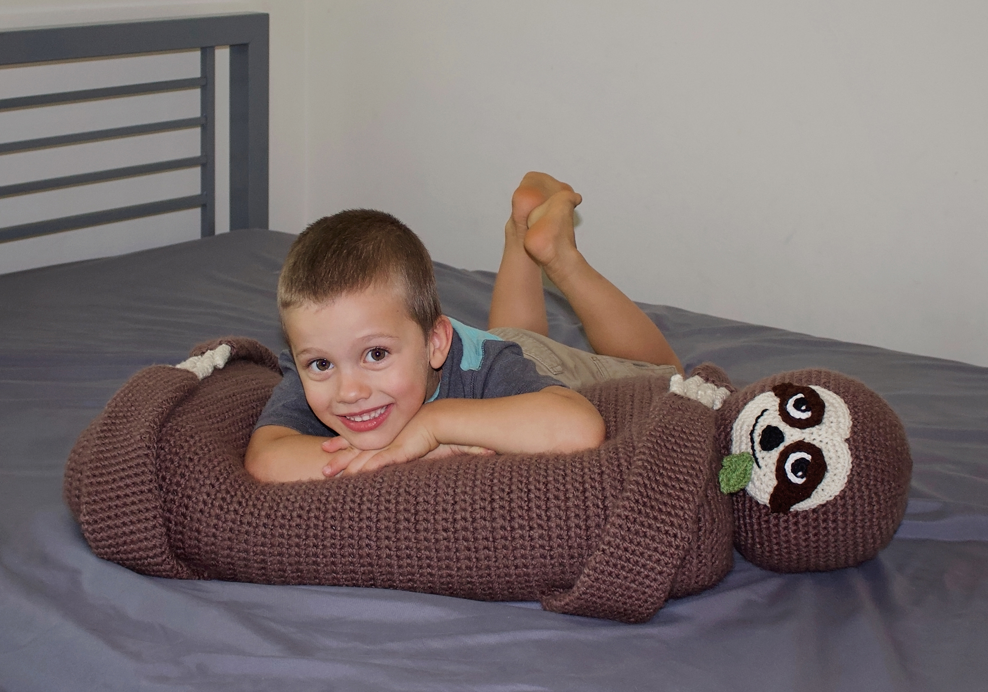 crochet sloth pillow